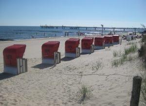 Strandkörbe in Koserow am Hundestrand mieten